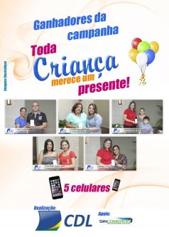 Ganhadores da Promoção Dia das Crianças