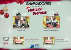 Ganhadores da Campanha NATAL DE PRÊMIOS CDL